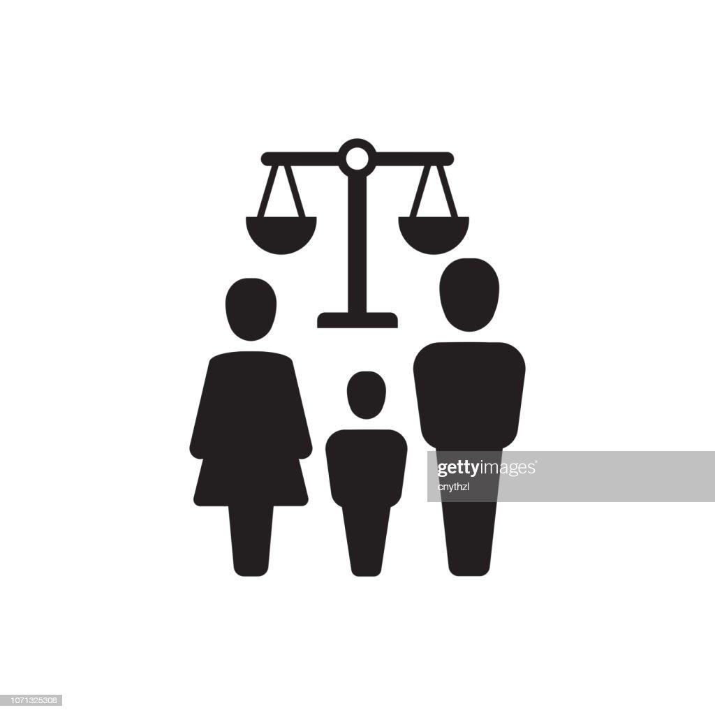 家族法アイコン : ストックイラストレーション