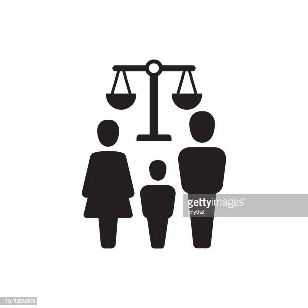 ilustrações de stock, clip art, desenhos animados e ícones de family law icon - crime or recreational drug or prison or legal trial