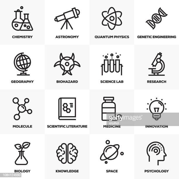 science line icons set - philosophy stock illustrations