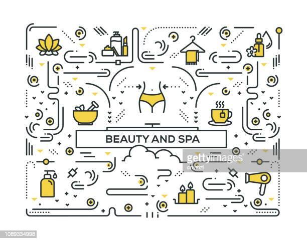 美しさとスパ線アイコンのパターン設計 - 精油点のイラスト素材/クリップアート素材/マンガ素材/アイコン素材