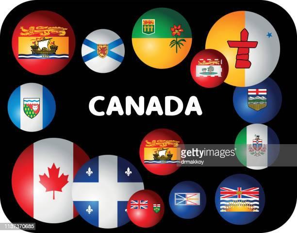 CANADA FLAGS SYMBOLS