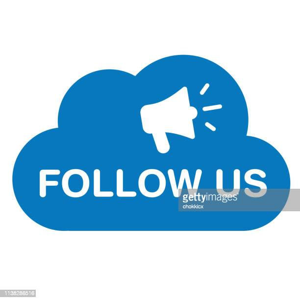 follow us - following stock illustrations