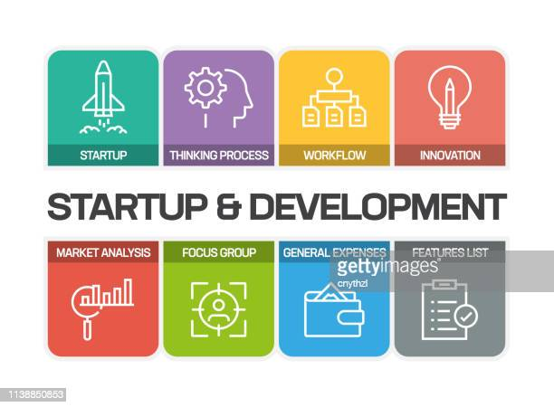 STARTUP AND DEVELOPMENT LINE ICONS