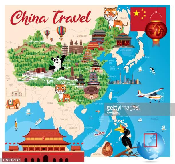 stockillustraties, clipart, cartoons en iconen met china - lhasa