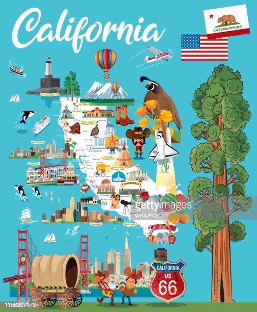 カリフォルニア - カリフォルニア州点のイラスト素材/クリップアート素材/マンガ素材/アイコン素材