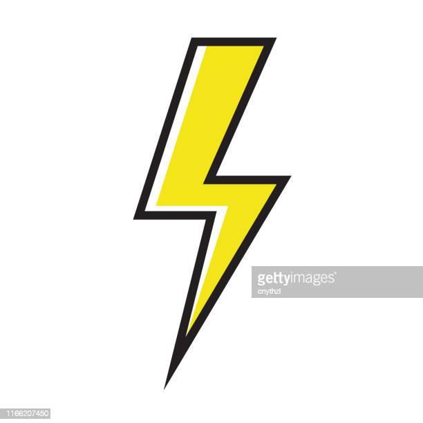 electricity icon - lightning stock illustrations