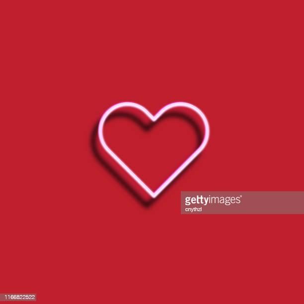 illustrazioni stock, clip art, cartoni animati e icone di tendenza di icona sanitaria - stile neon - cuore