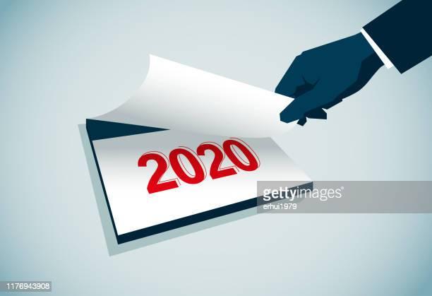 2020 - 2019 2020 calendar stock illustrations