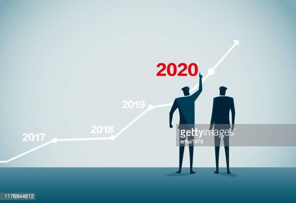 illustrazioni stock, clip art, cartoni animati e icone di tendenza di 2020 - previsione