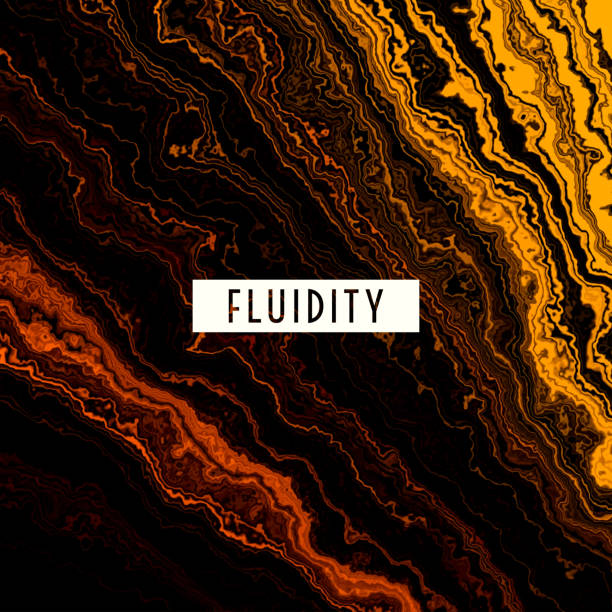 fluid gold melting waves flowing liquid motion abstract background - melting stock illustrations
