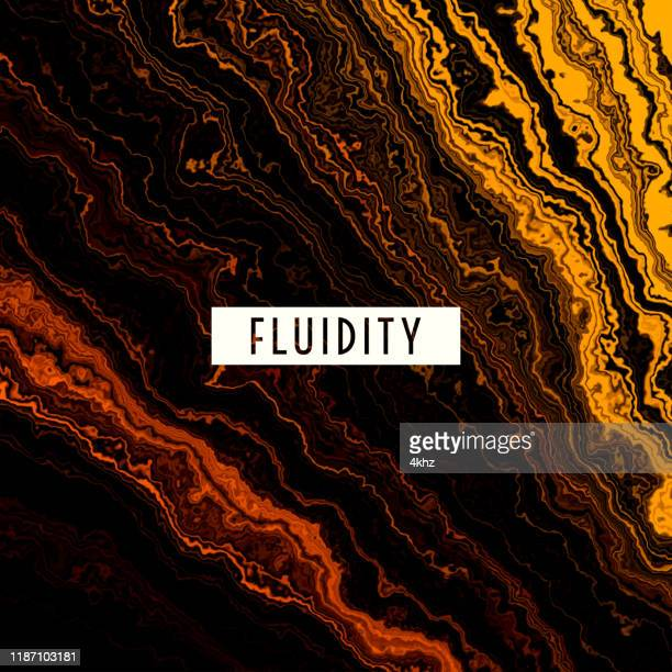 fluid gold melting waves flowing liquid motion abstract background - lava stock illustrations