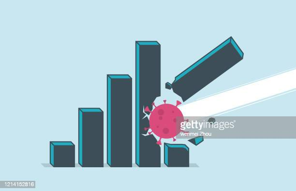 covid-19 - recession stock illustrations