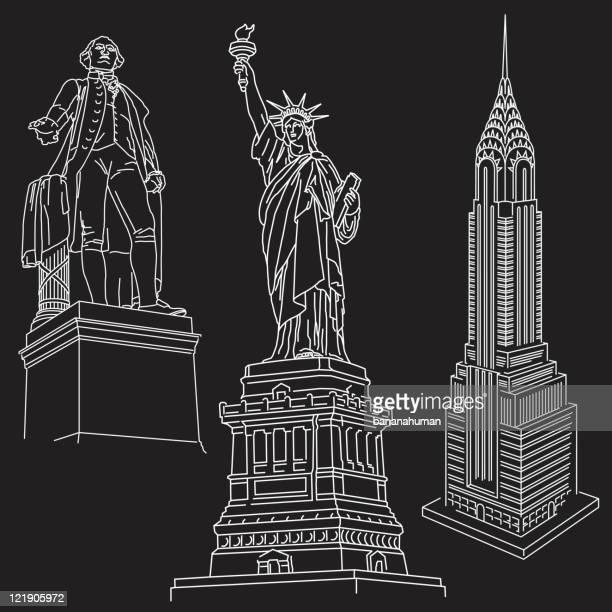 ilustraciones, imágenes clip art, dibujos animados e iconos de stock de unidos. - estatuadelalibertad