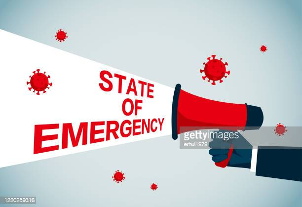 state of emergency - state of emergency stock illustrations