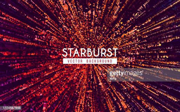 polygon starburst explosion abstract background - active volcano stock illustrations