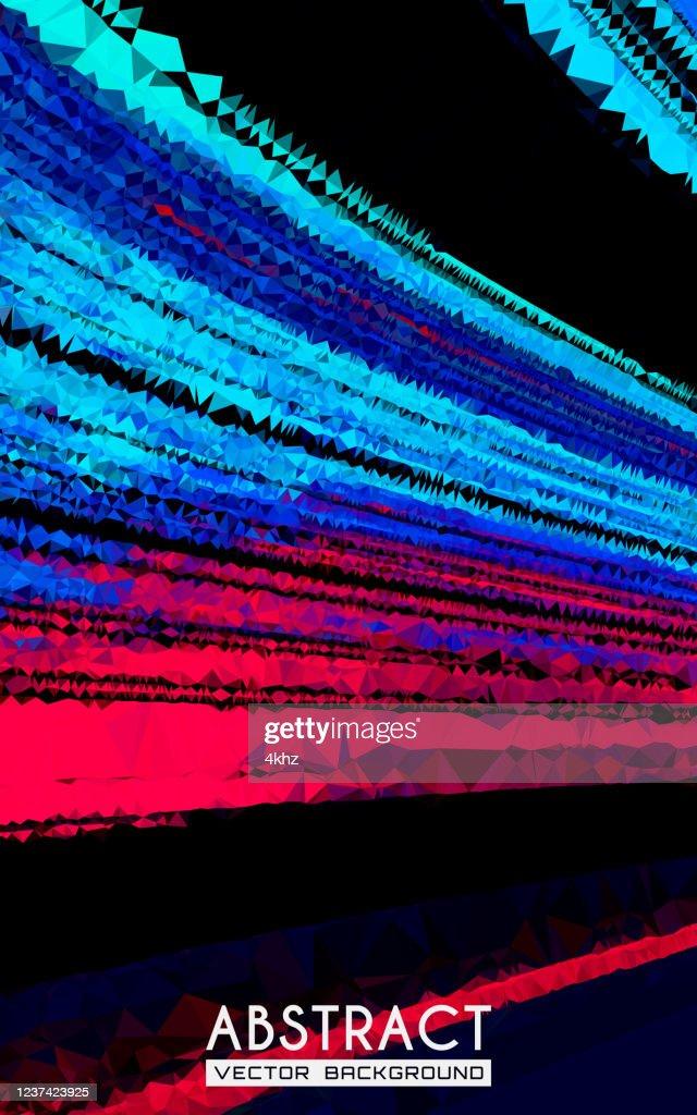 Synthwave Stil Lila Und Rosa Dunkle Welle Abstrakte Kunst Hintergrund Stock Illustration Getty Images