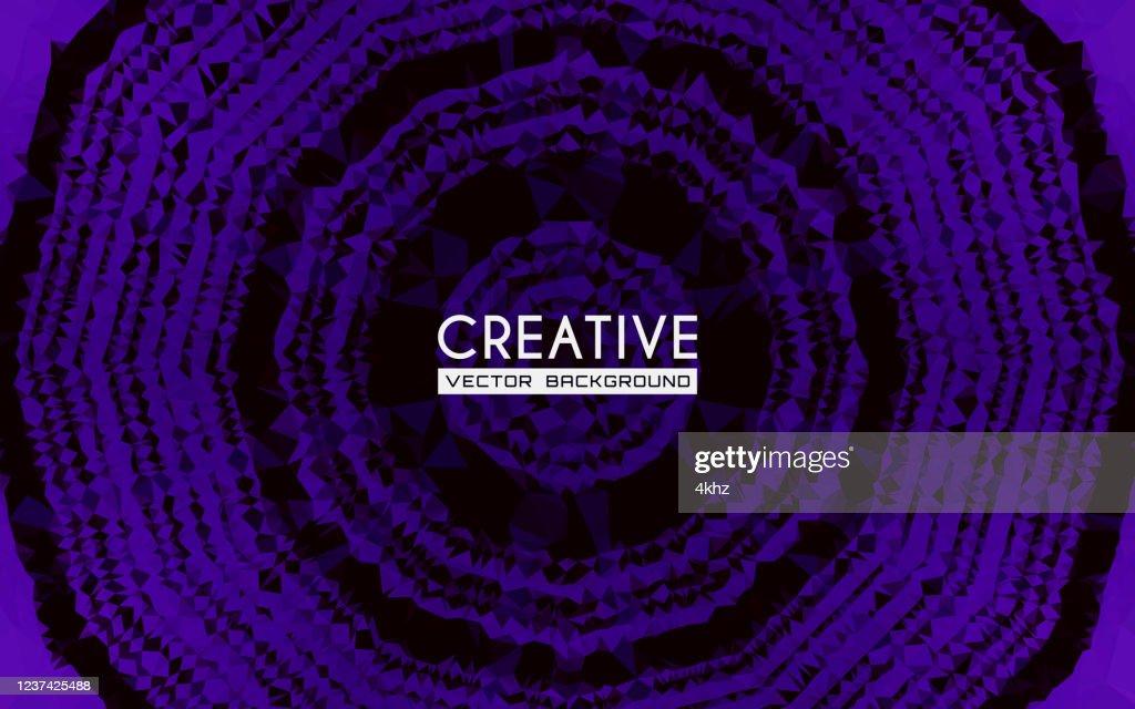 Synthwave Stil Lila Und Rosa Dunklen Kreis Abstrakte Kunst Hintergrund Stock Illustration Getty Images