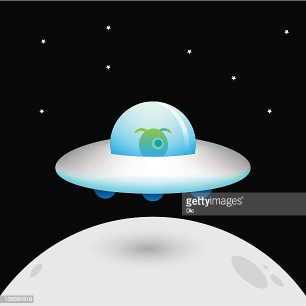 ufo - cyclops stock illustrations, clip art, cartoons, & icons