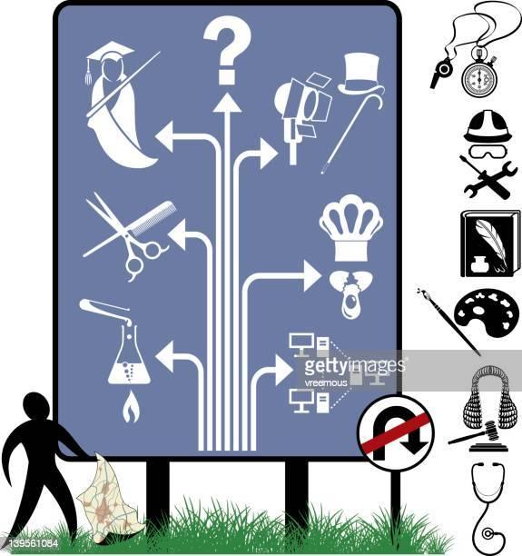 ilustraciones, imágenes clip art, dibujos animados e iconos de stock de opción de trabajo - educacion fisica