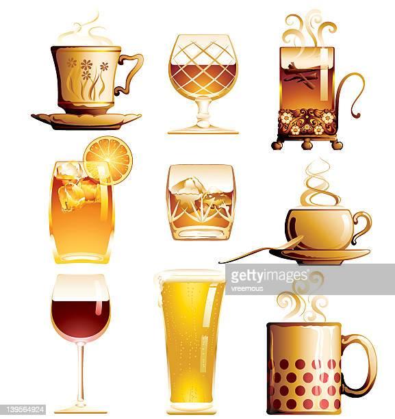 drinks - brandy stock illustrations, clip art, cartoons, & icons