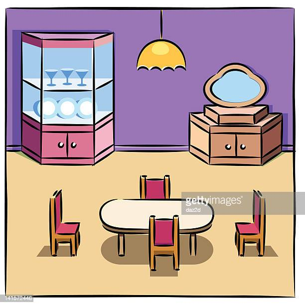 Cartoon Dining Room: Tidy Room Stock Illustrations And Cartoons