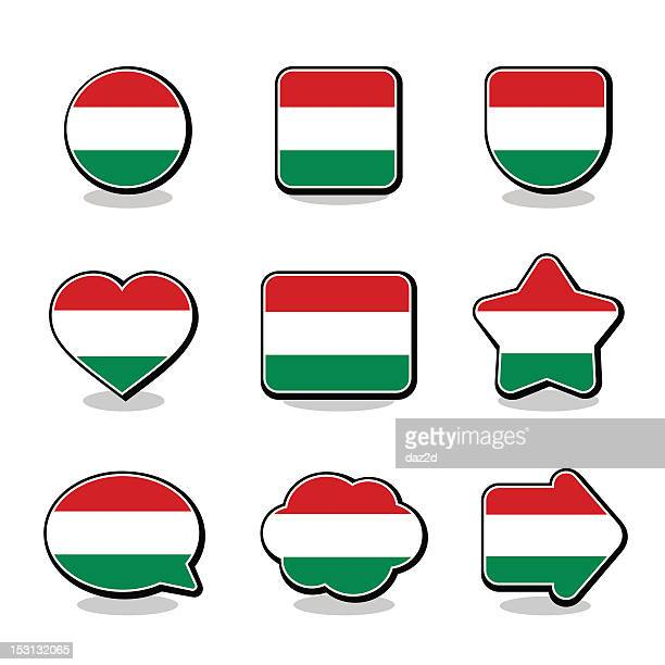 HUNGARY FLAG ICON SET