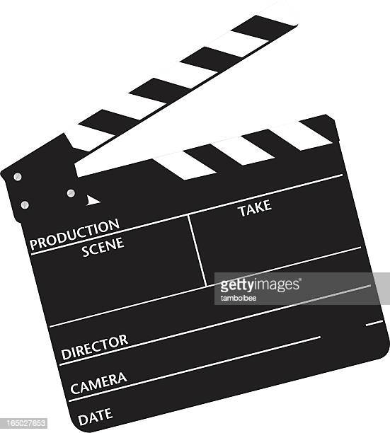 action! - clapboard stock illustrations, clip art, cartoons, & icons