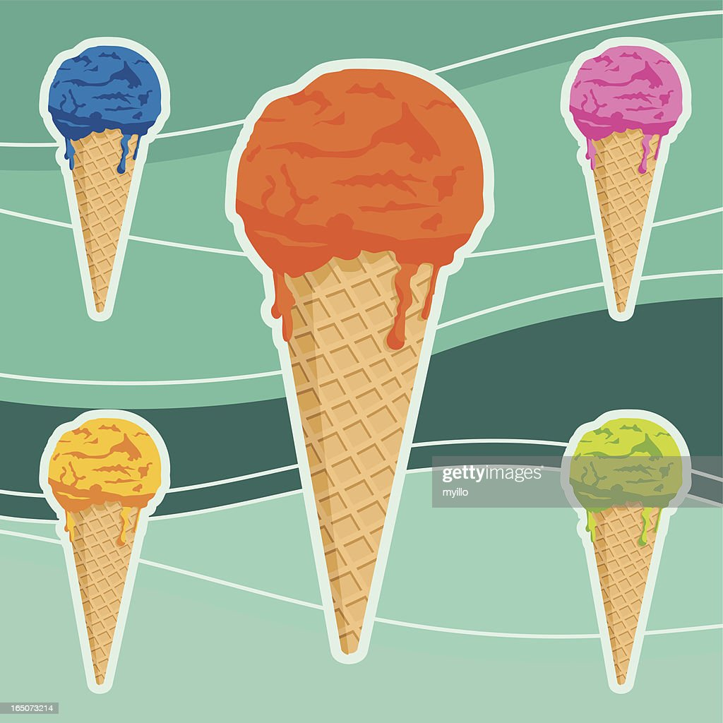 ICECREAMS : Stock-Illustration