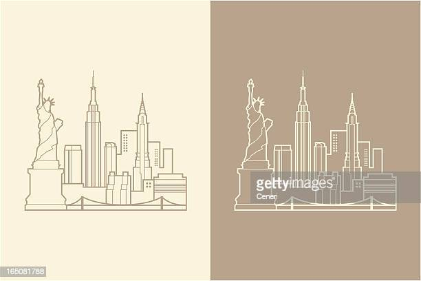nyc - skyline stock illustrations