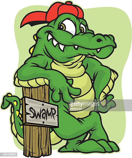 gator lean - alligator stock illustrations, clip art, cartoons, & icons