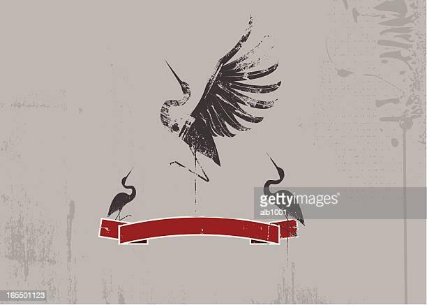 dance !! - crane bird stock illustrations