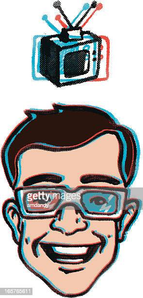 retro tele time - television aerial stock illustrations, clip art, cartoons, & icons