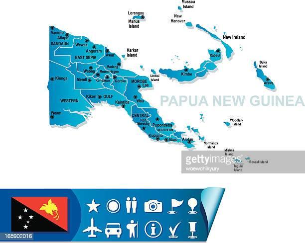 PAPUA-NEUGUINEA KARTE
