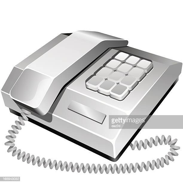 phone - phone cord stock illustrations, clip art, cartoons, & icons