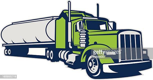 tanker truck - oil tanker stock illustrations, clip art, cartoons, & icons