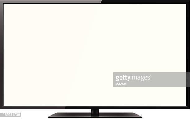 stockillustraties, clipart, cartoons en iconen met lcd tv - zonder mensen