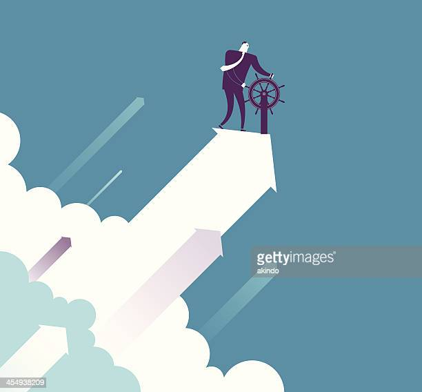 up - confidence stock illustrations