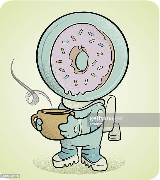 astro-coffee and cosmo-donuts - donut stock illustrations, clip art, cartoons, & icons