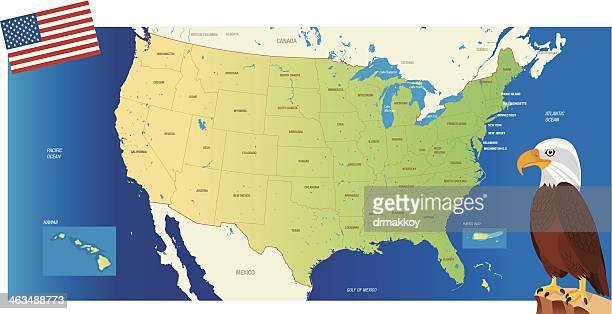 ilustrações, clipart, desenhos animados e ícones de estados unidos mapa - estados da costa do golfo