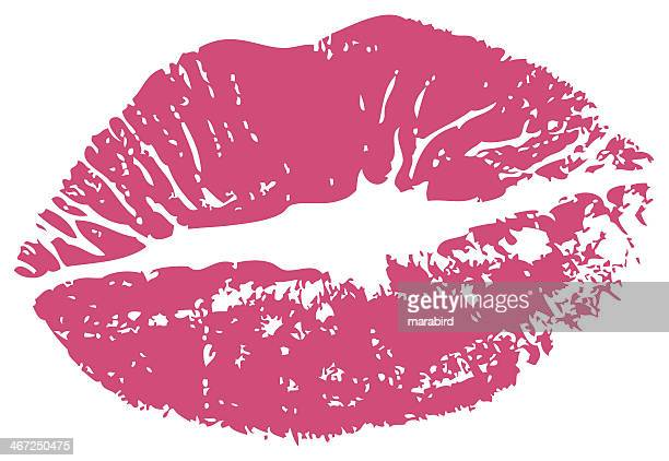 kiss print rouge - sex and reproduction stock illustrations, clip art, cartoons, & icons