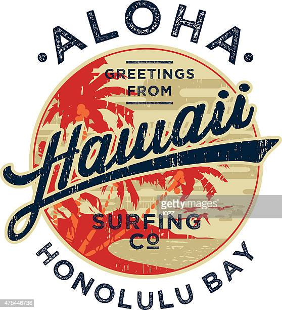 aloha - surfing stock illustrations, clip art, cartoons, & icons