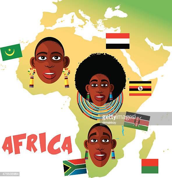 ilustraciones, imágenes clip art, dibujos animados e iconos de stock de áfrica - masai