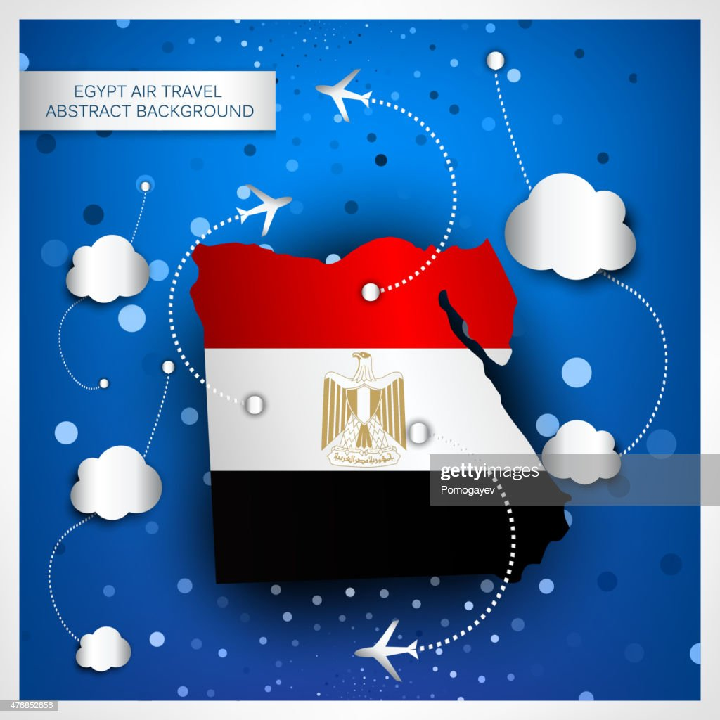 EGYPT AIR TRAVEL ABSTRACT BACKGROUND
