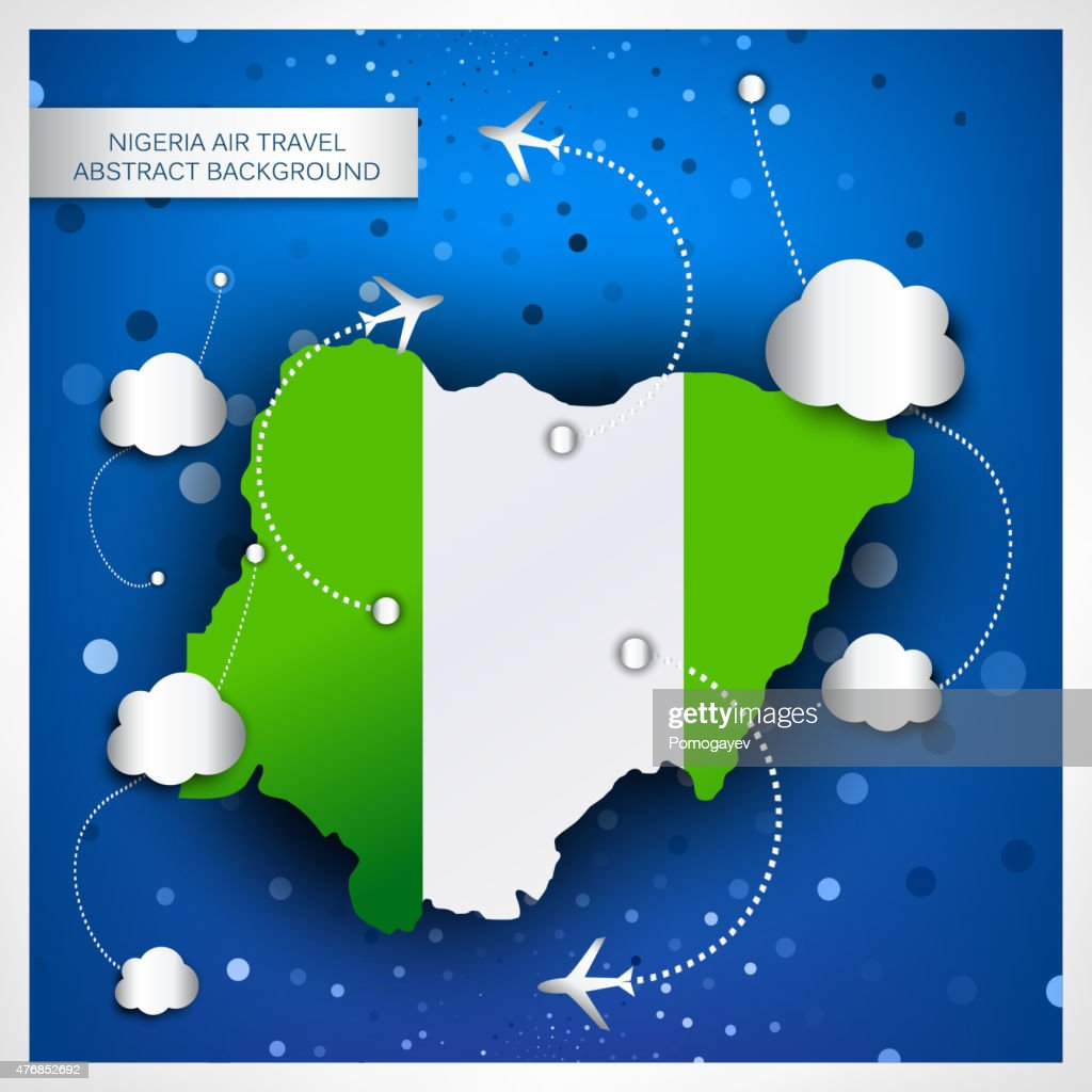 NIGERIA AIR TRAVEL ABSTRACT BACKGROUND