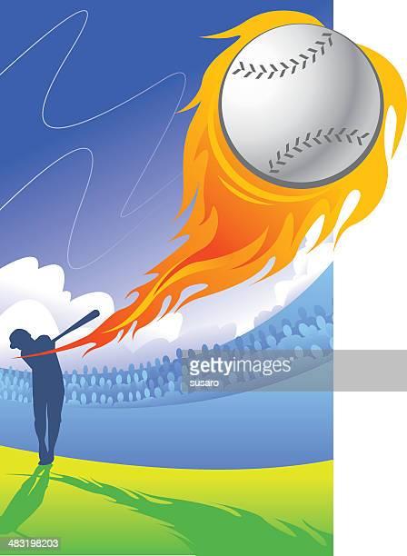 homerun! - baseball bat stock illustrations, clip art, cartoons, & icons