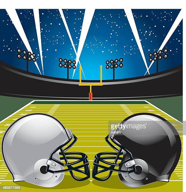 game night - american football ball stock illustrations