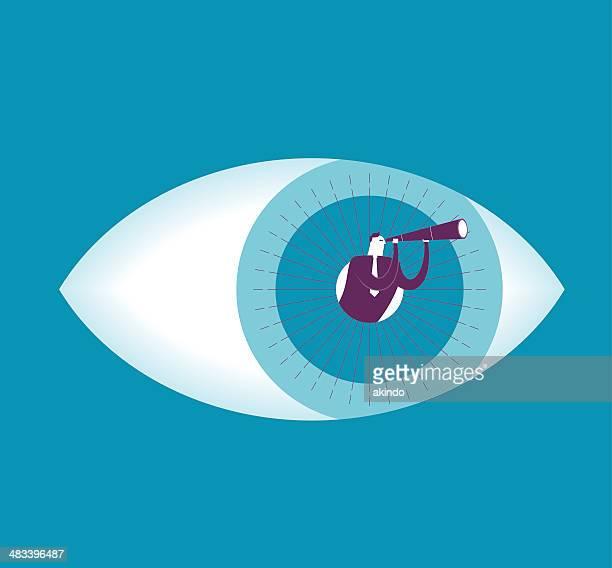 illustrazioni stock, clip art, cartoni animati e icone di tendenza di di vista - occhio umano