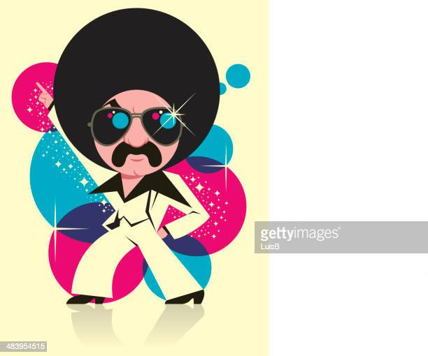 funky man - afro stock illustrations