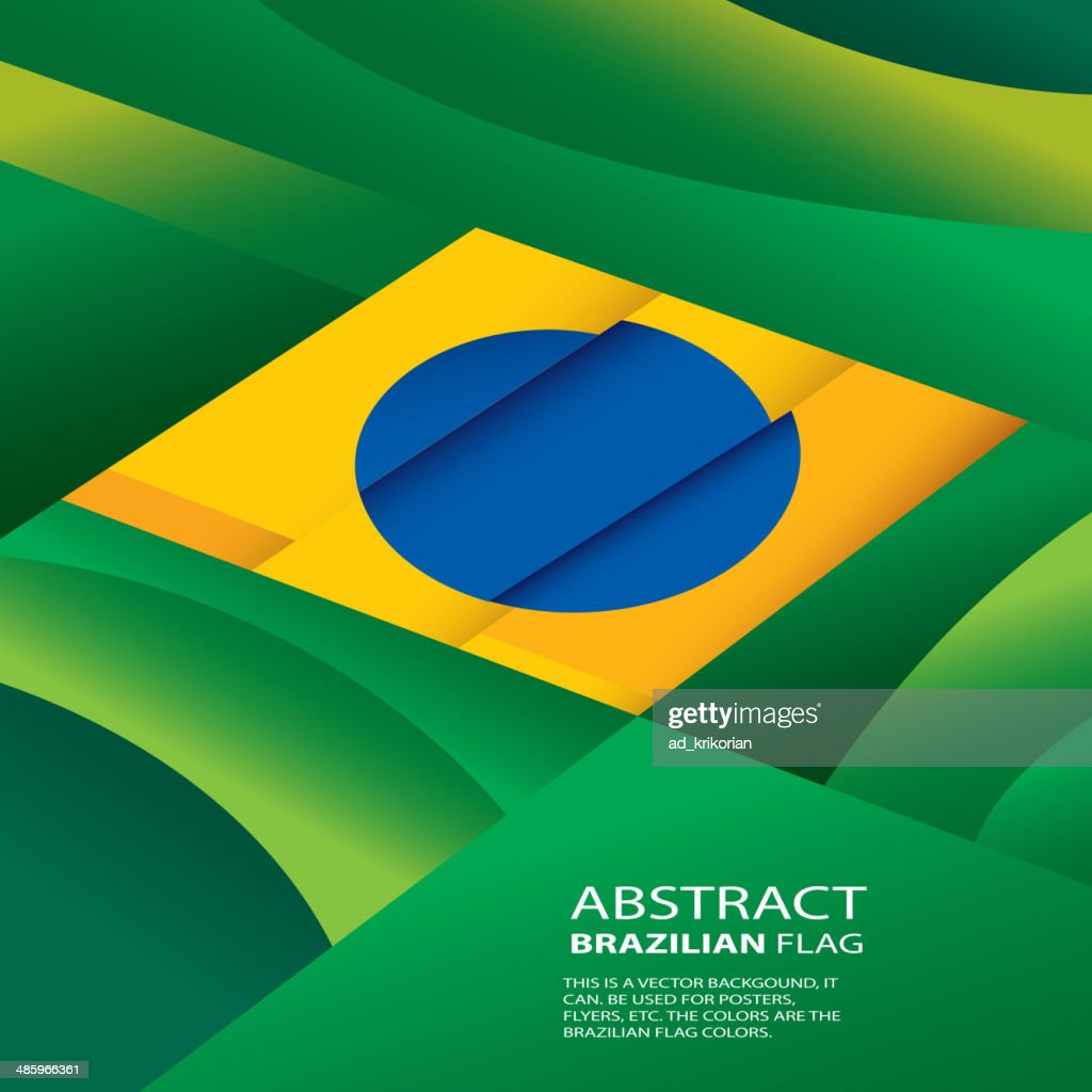 ABSTRACT BRAZIL, BRAZILIAN FLAG (VECTOR ART)