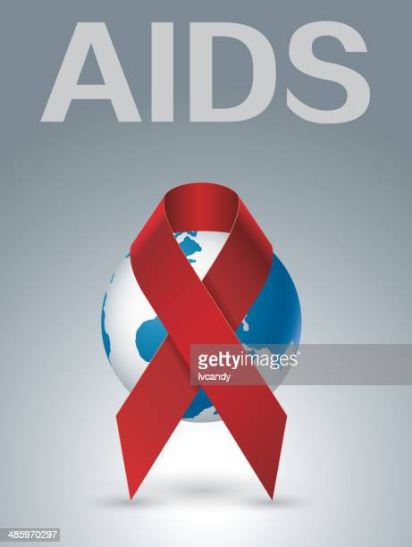aids - world aids day stock illustrations